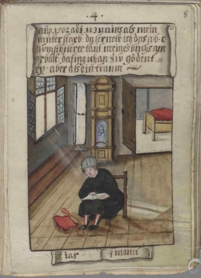 Schwarz - Trachtenbüchlein, Quelle: https://de.wikipedia.org/wiki/Datei:Trachtenbuch_des_Matthaus_Schwarz_aus_Augsburg,1520_-_1560.PDF